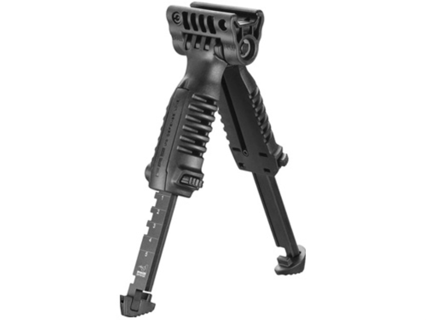 FAB Defense T-Pod Vertical Forend Grip with Bipod fits Picatinny Rails Polymer Black