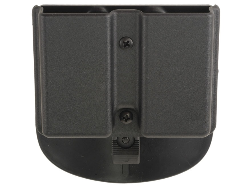Uncle Mike's Double Magazine Belt Pouch for Single Stack Magazine Paddle Kydex Black
