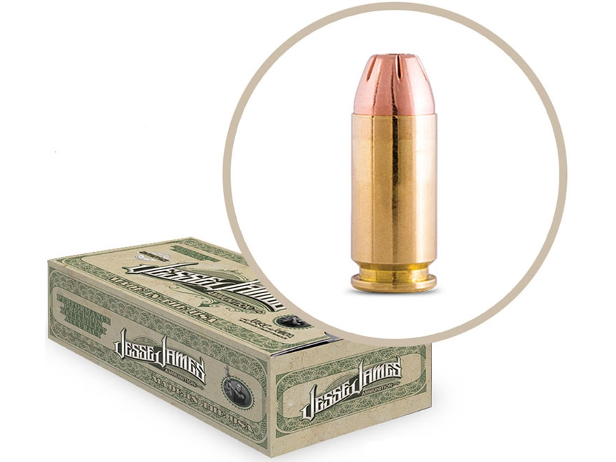 Jesse James TML Ammunition 10mm Auto 180 Grain Jacketed Hollow Point Box of 50