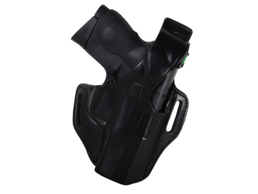 Bianchi 56 Serpent Outside the Waistband Holster Right Hand S&W M&P 9C Leather Black