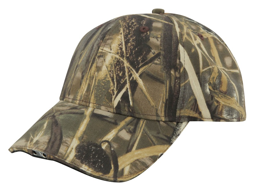 HiBeam Hands-Free Lighted Cap Cotton Realtree Max-4 Camo