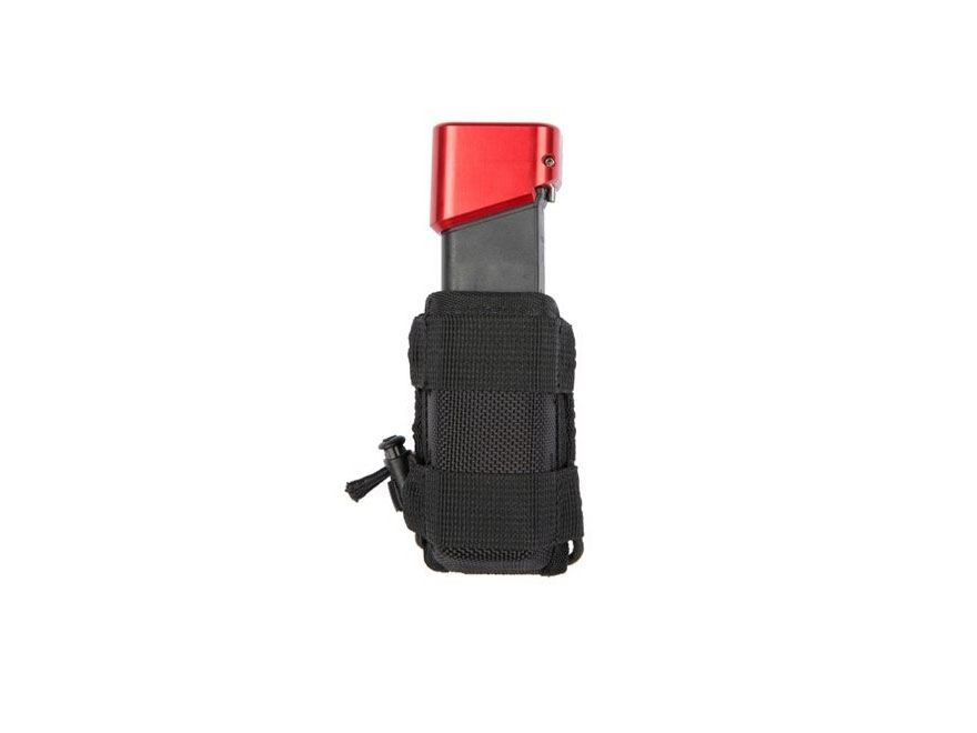 Tuff Products Clip on Bungee Single Magazine Pouch Double Stack Pistol Nylon Black