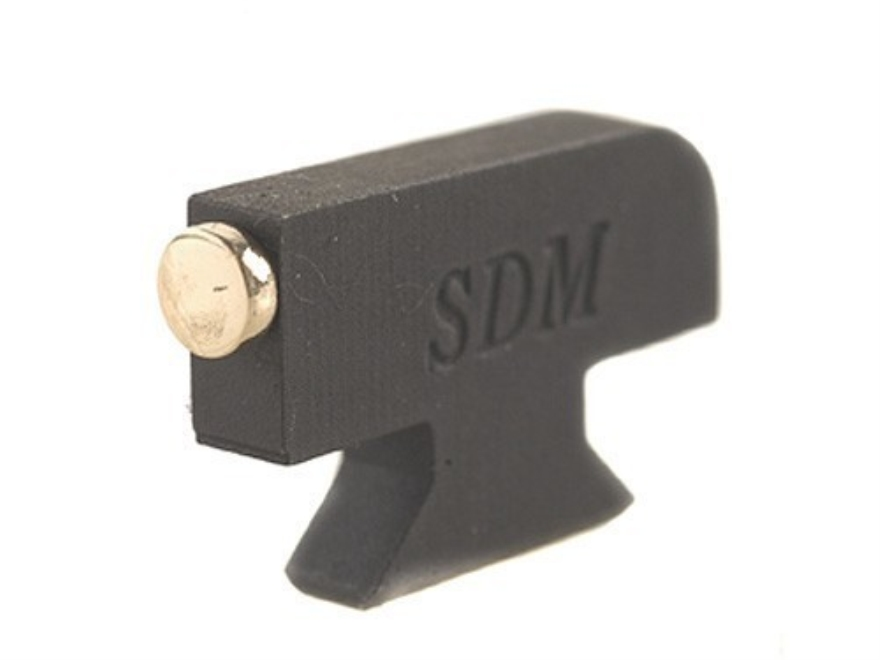 """SDM Front Sight S&W Revolvers Classic, DX .250"""" Height .125"""" Width Steel Blue Gold Bead"""