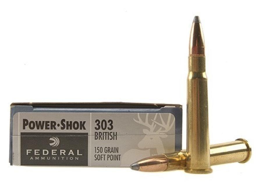 Federal Power-Shok Ammunition 303 British 150 Grain Soft Point Box of 20