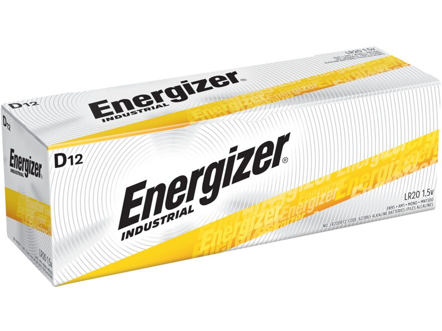 Energizer Battery D Industrial EN95 1.5 Volt Alkaline Pack of 12