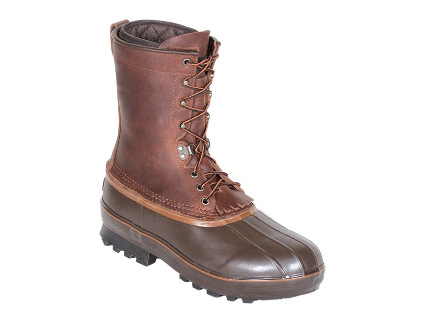 "Kenetrek Northern 10"" 1000 Gram Insulated Waterproof Pac Boots Leather and Rubber Brown..."