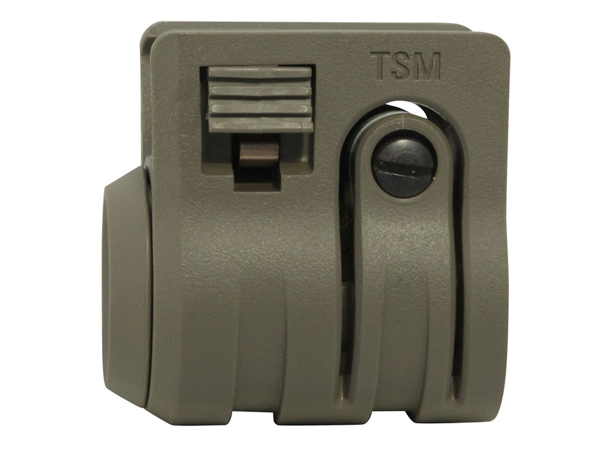 """Mission First Tactical Torch Quick Detach Flashlight Holder Fits 1"""", 3/4"""", or 5/8"""" Flas..."""