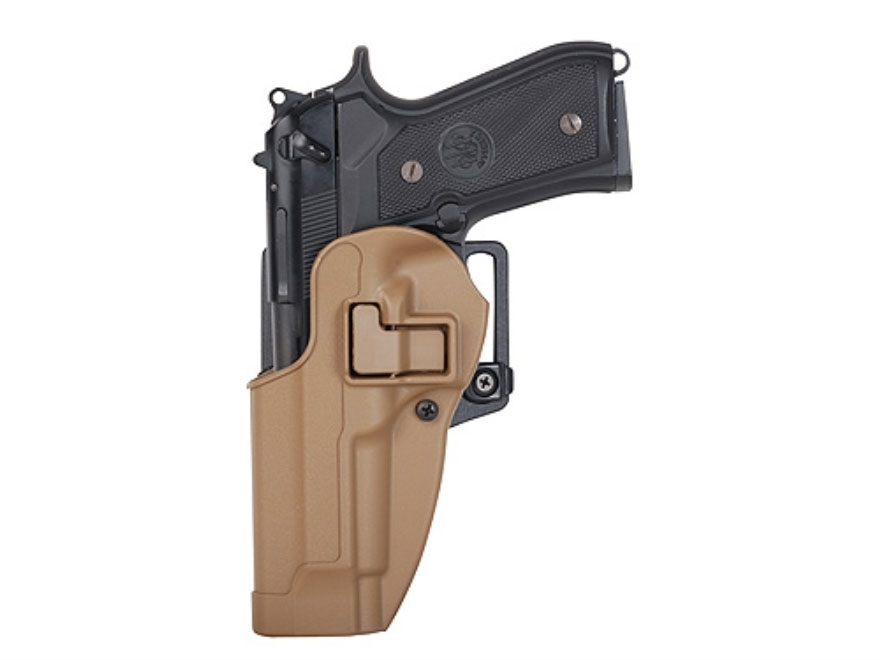 BLACKHAWK! CQC Serpa Holster Left Hand 1911 Government Polymer Coyote Tan