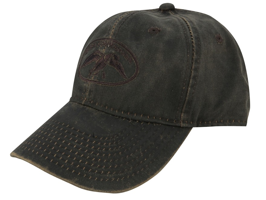Duck Commander Waxed Cap Cotton Polyester Blend Brown