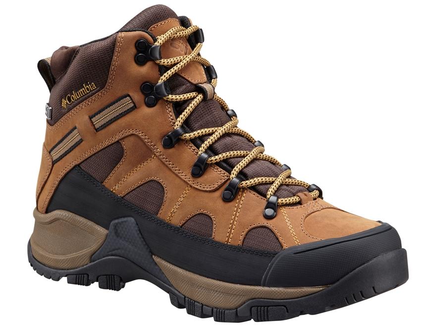 "Columbia Smith Rock Outdry 6"" Waterproof Hiking Boots Leather Hawk/Dark Banana Men's"