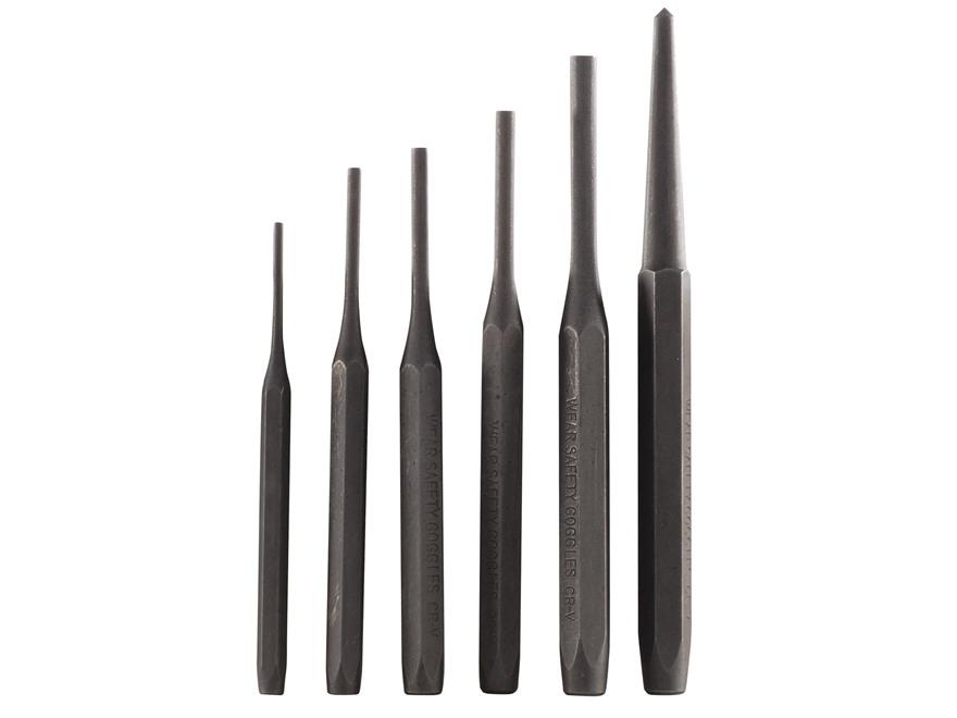 Wisdom Drive Pin Punch Set 6-Piece Steel