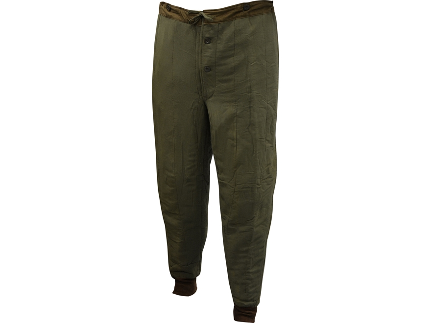 Military Surplus Czech M60 Thermal Pants Olive Drab