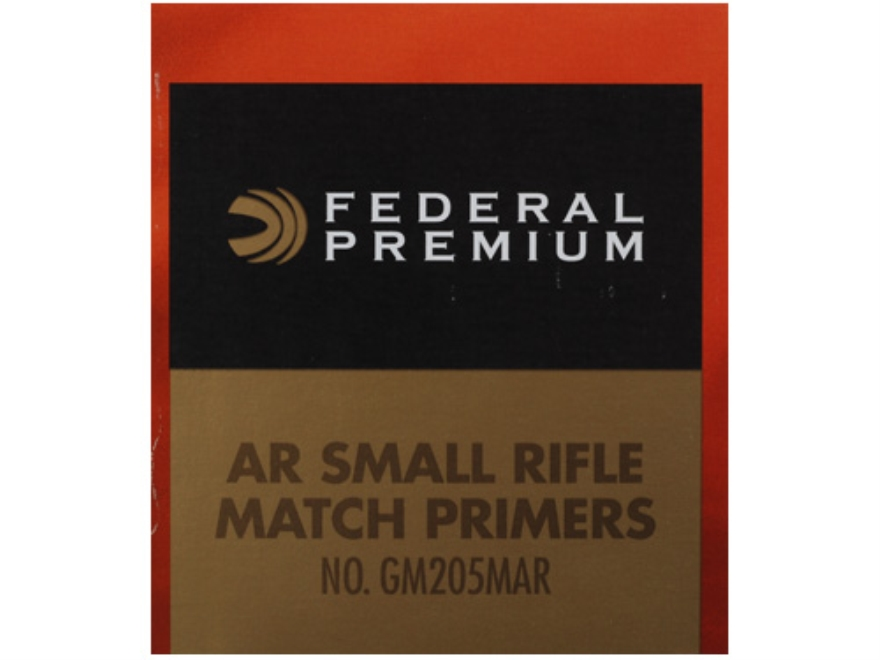 Federal Premium Gold Medal AR Match Grade Small Rifle Primers