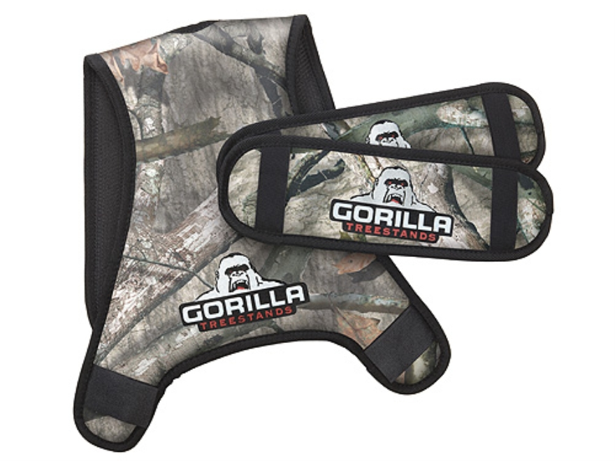 Gorilla Gear Padded Treestand Safety Harness Conversion System Polyester Mossy Oak Tree...