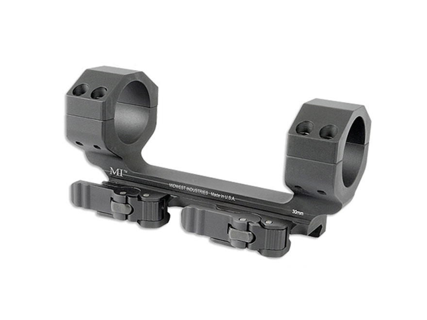 Midwest Industries 30mm Heavy Duty QD Scope Mount Picatinny-Style Zero Offset Matte