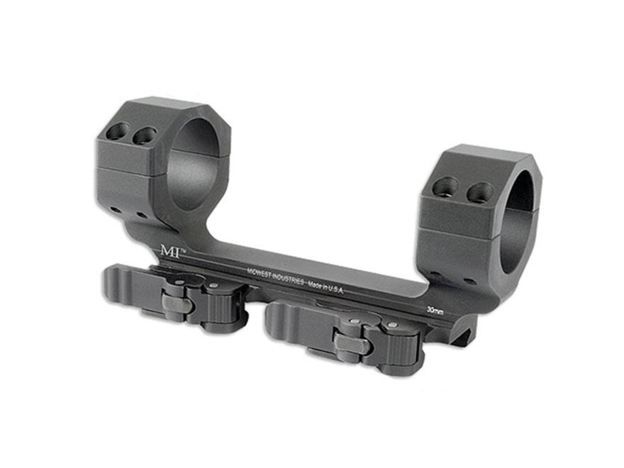 Midwest Industries 30mm Heavy Duty QD Scope Mount Picatinny-Style Zero Offset Matte