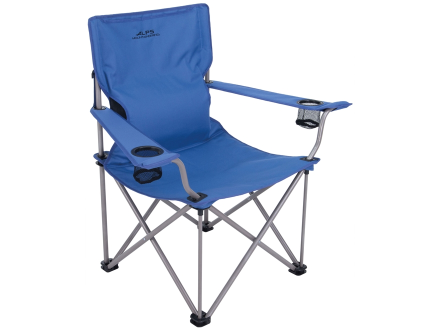 ALPS Mountaineering Power-Back Camp Chair Steel and Polyester Blue