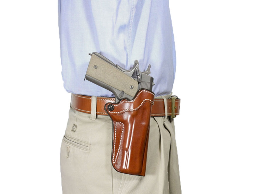 "DeSantis Top Cop 2.0 Paddle and Belt Holster S&W J Frame 2-1/4"" Taurus 85 Leather"