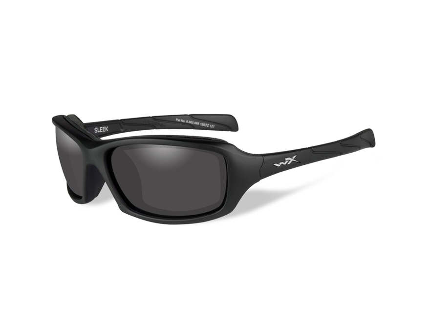 Wiley X Sleek-Climate Control Series Sunglasses Matte Black Frame Smoke Gray Lens