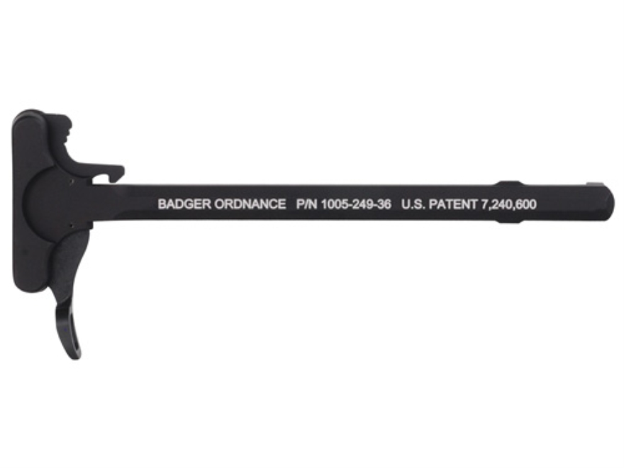 Badger Ordnance Ambidextrous Charging Handle Assembly with Tactical Latch AR-15 Aluminu...