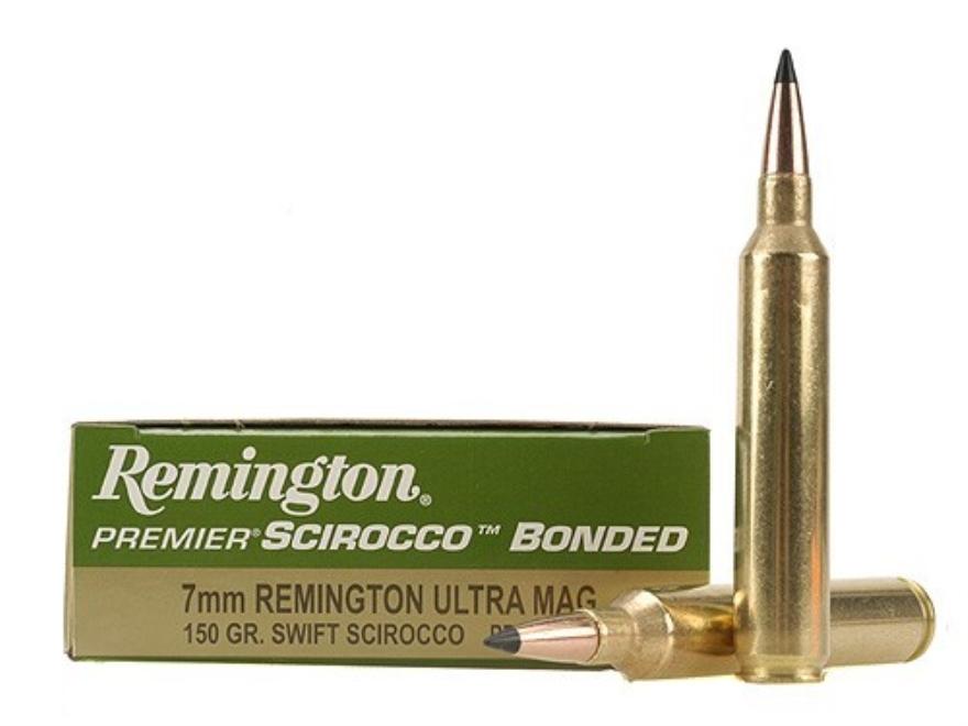 Remington Premier Ammunition 7mm Remington Ultra Magnum 150 Grain Swift Scirocco Polyme...