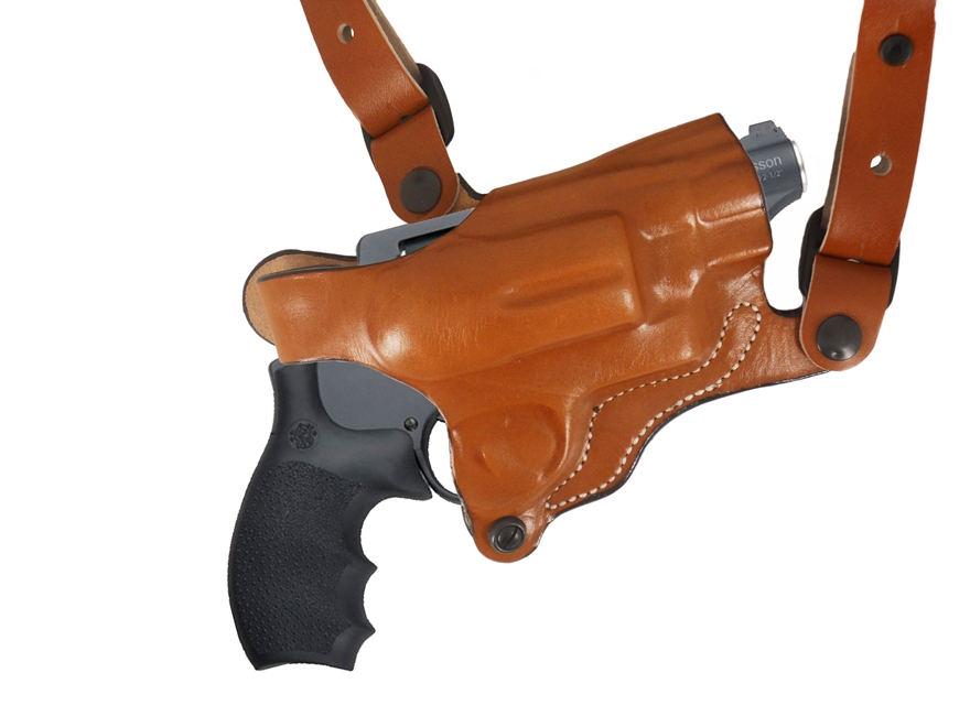 DeSantis New York Undercover Shoulder Holster Right Hand S&W Governor Leather Tan
