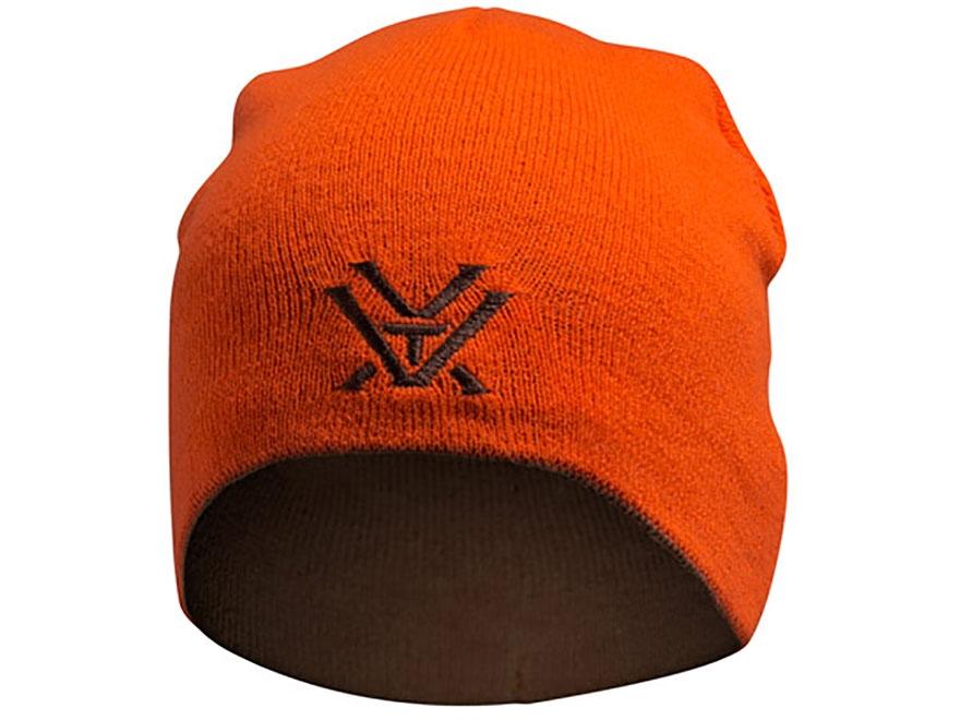 Vortex Optics Reversible Logo Beanie Polyester Blaze Orange and Brown One Size Fits Most