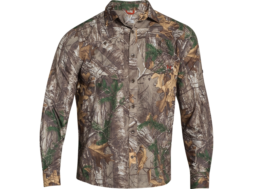 Under Armour Men's UA Chesapeake Long Sleeve Shirt Polyester Mossy Oak Obsession Large ...