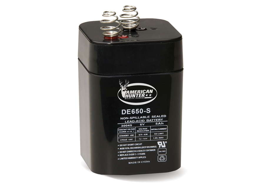 American Hunter Rechargeable Battery 30045 6 Volt Lead Acid 5 mAH
