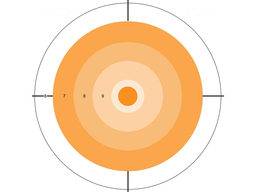 "Do-All Orange Dot 10"" x 10"" Bullseye Paper Target Package of 10"