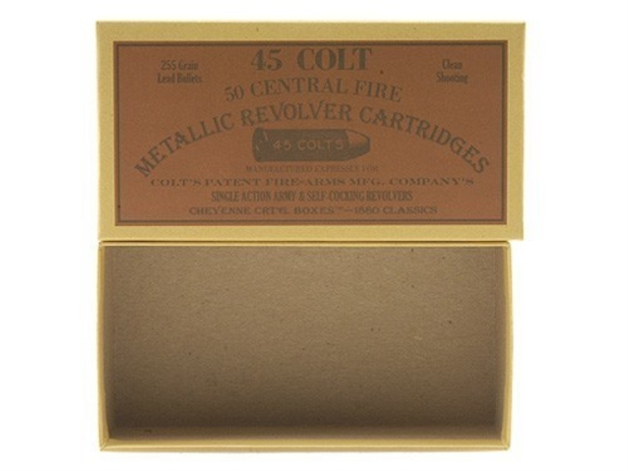 Cheyenne Pioneer Cartridge Box 45 Colt (Long Colt) Chipboard Pack of 5