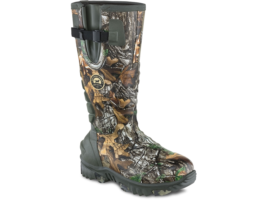 "Irish Setter Rutmaster 2.0 15"" Waterpoof Uninsulated Hunting Boots Rubber Clad Neoprene..."