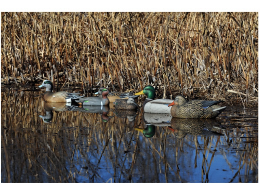 GHG Pro-Grade Weighted Keel Duck Decoys Marsh Pack of 6