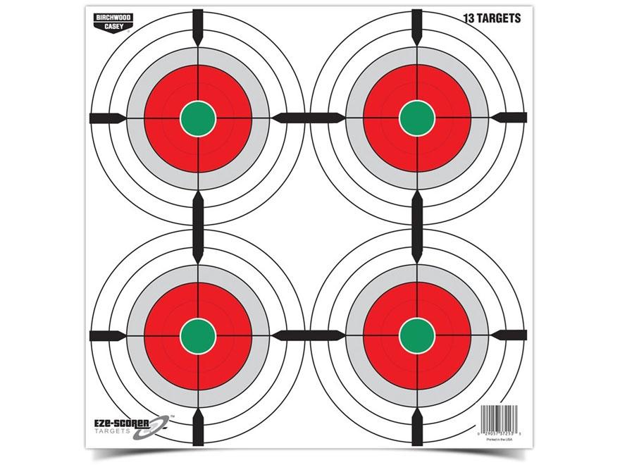 """Birchwood Casey Eze-Scorer Multiple Bull's-Eye 12"""" Target Package of 13"""