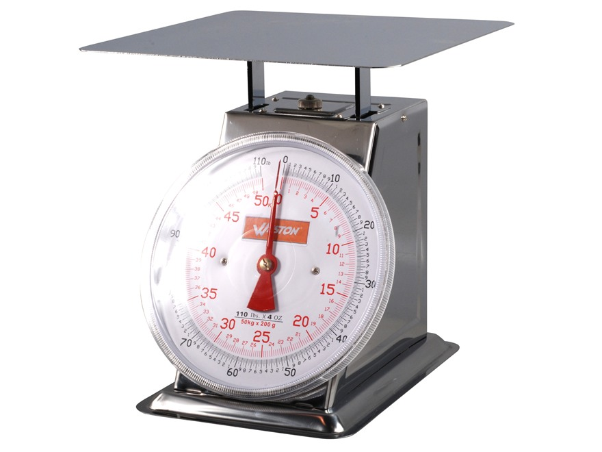 Weston Flat Top Dial 110 lb Meat Scale Stainless Steel