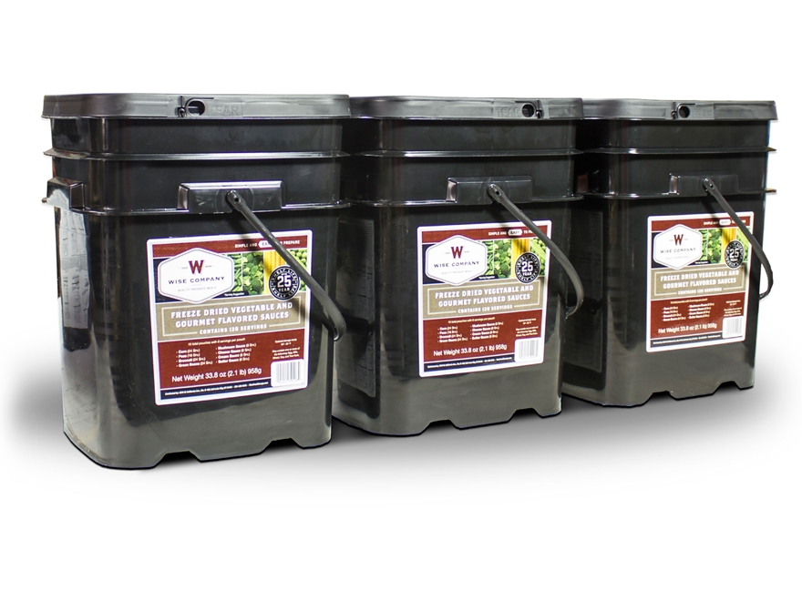 Wise Company 360 Serving Vegetable Freeze Dried Food Kit