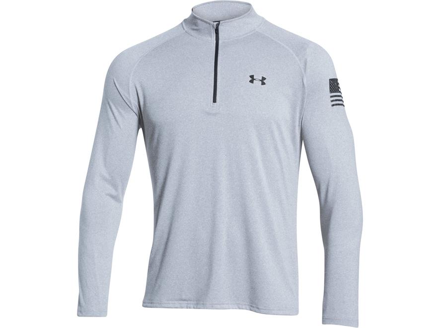 Under Armour Men's UA Freedom Tech 1/4 Zip Shirt Long Sleeve Polyester
