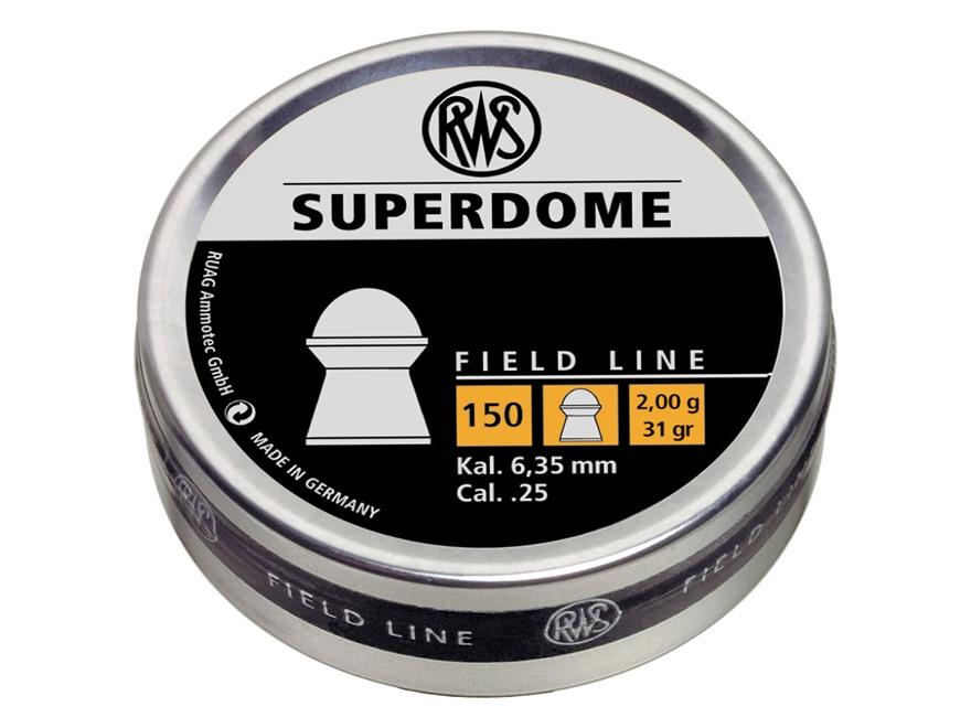 RWS Superdome Air Gun Pellets 25 Caliber 31 Grain Round Nose Tin of 150
