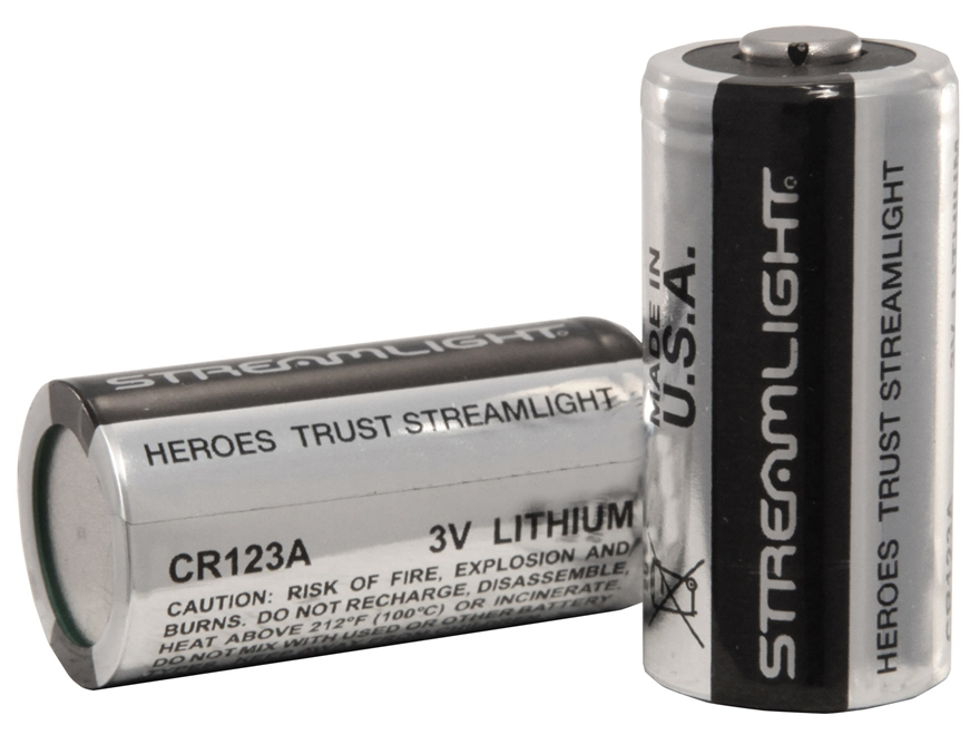 Streamlight Battery CR123A 3 Volt Lithium