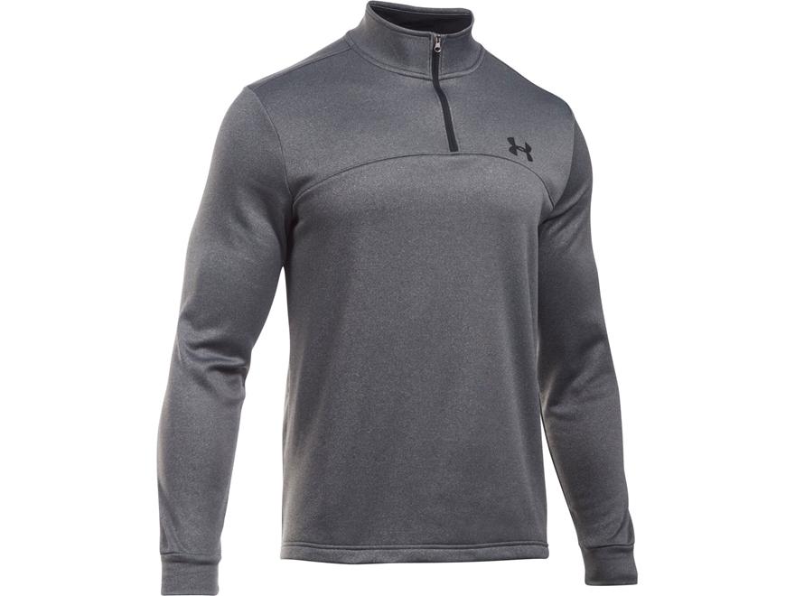 Under Armour Men's UA Armour Fleece 1/4 Zip Shirt Long Sleeve Polyester Carbon Gray Hea...