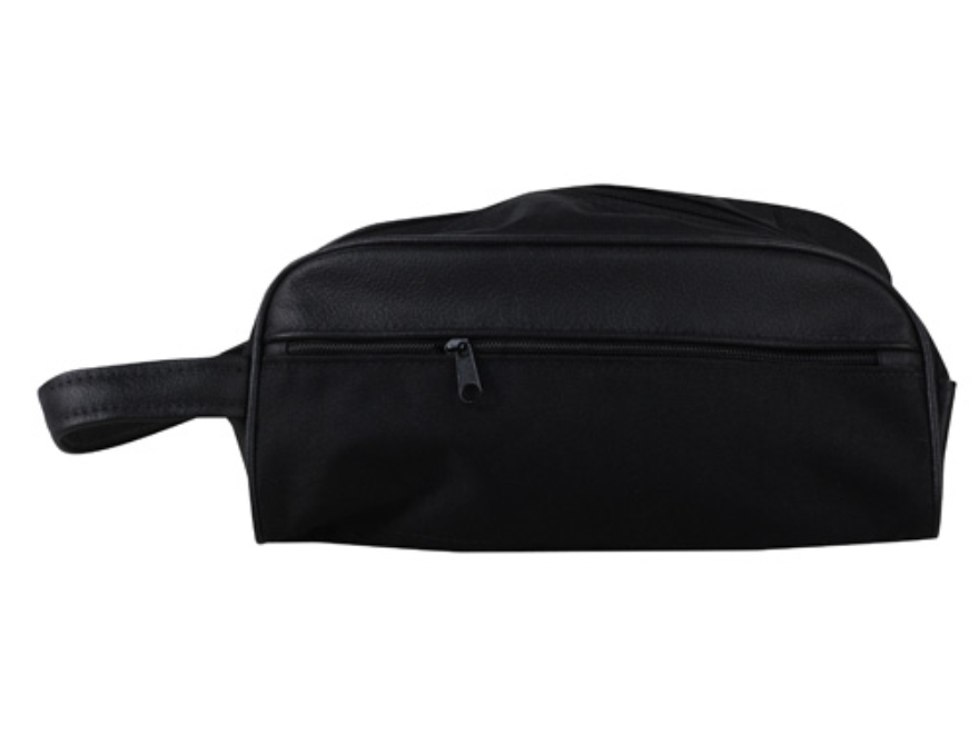 The Outdoor Connection Large Accessory Bag Canvas and Leather Black