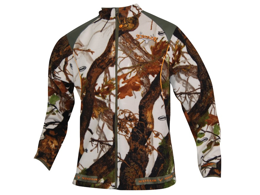 Scent-Lok Men's Rampage Jacket Polyester Vertigo Gray Camo Medium 38-40