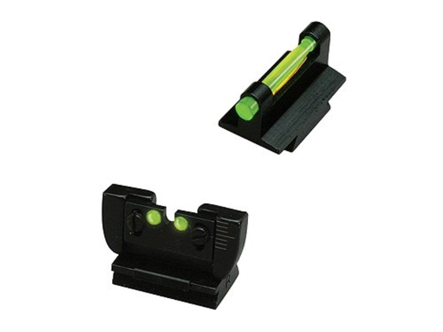 HIVIZ Sight Set Ruger 10/22 Steel Fiber Optic Green Adjustable Rear, Interchangeable Re...