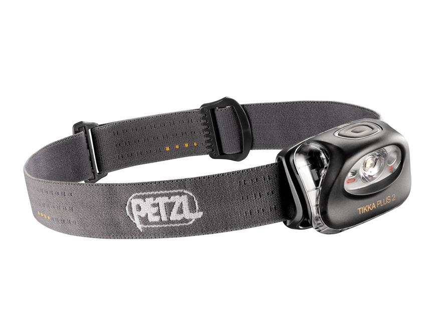 Petzl Tikka Plus 2 Headlamp LED with 3 AAA Batteries Polymer Gray