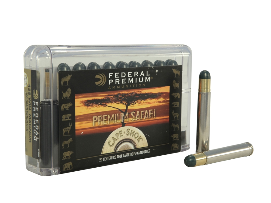 Federal Premium Cape-Shok Ammunition 458 Winchester Magnum 500 Grain Woodleigh Hydrosta...