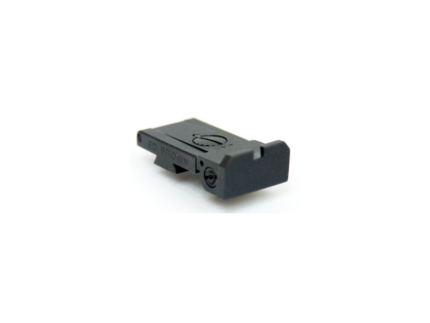 Ed Brown Adjustable Rear Sight Bo-Mar Style Steel Black