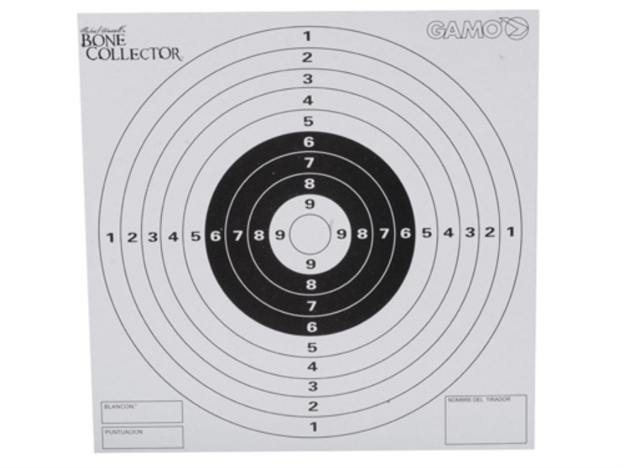 Gamo Bone Collector Paper Airgun Targets Pack of 100