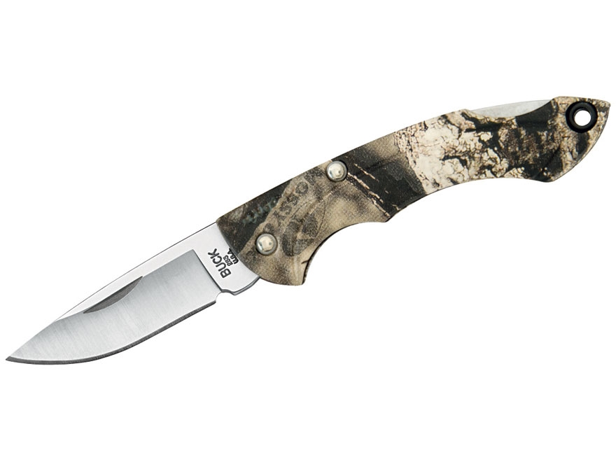 "Buck 283 Nano Bantam Folding Knife 1.875"" Drop Point 420HC Stainless Steel Blade Nylon ..."