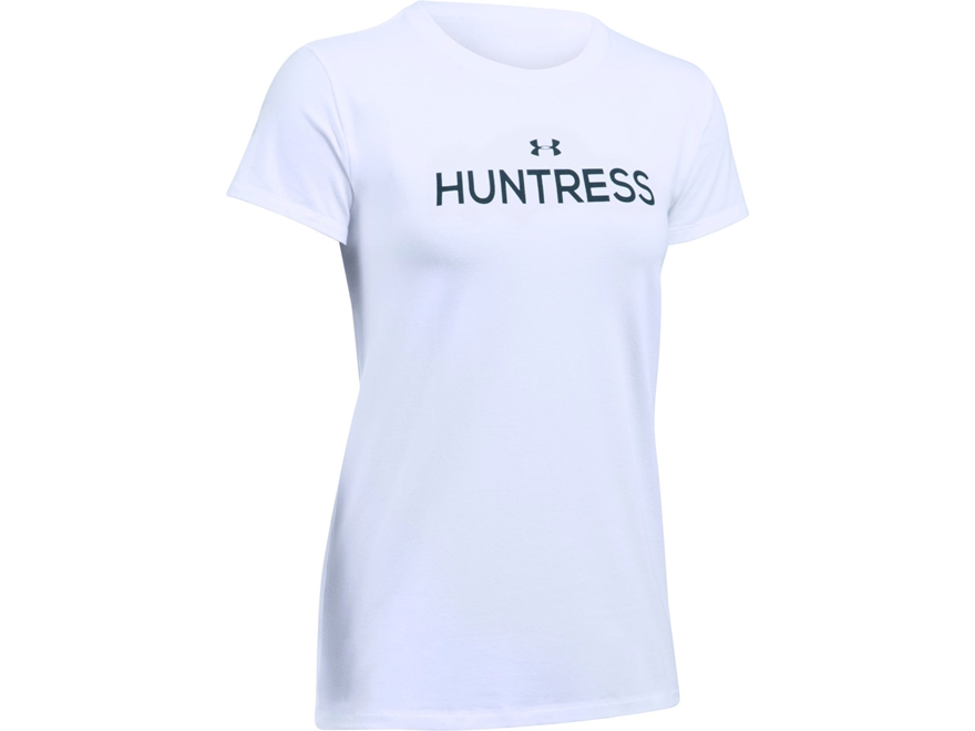 Under Armour Women's UA Huntress T-Shirt Short Sleeve Charged Cotton White Small