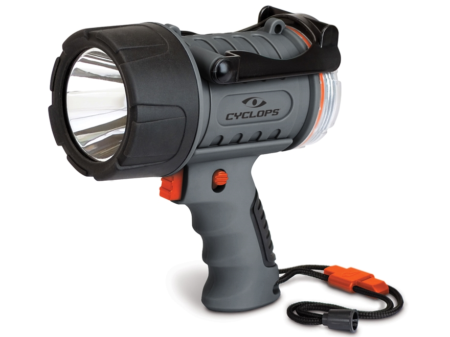Cyclops 300 Lumen Waterproof Spotlight LED with Rechargeable Battery Polymer Gray